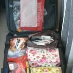 キャリー内の荷物の収納状態