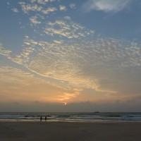 ベントタビーチの夕焼け-2
