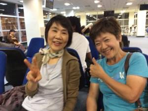 空港で昔の同僚とバッタリ