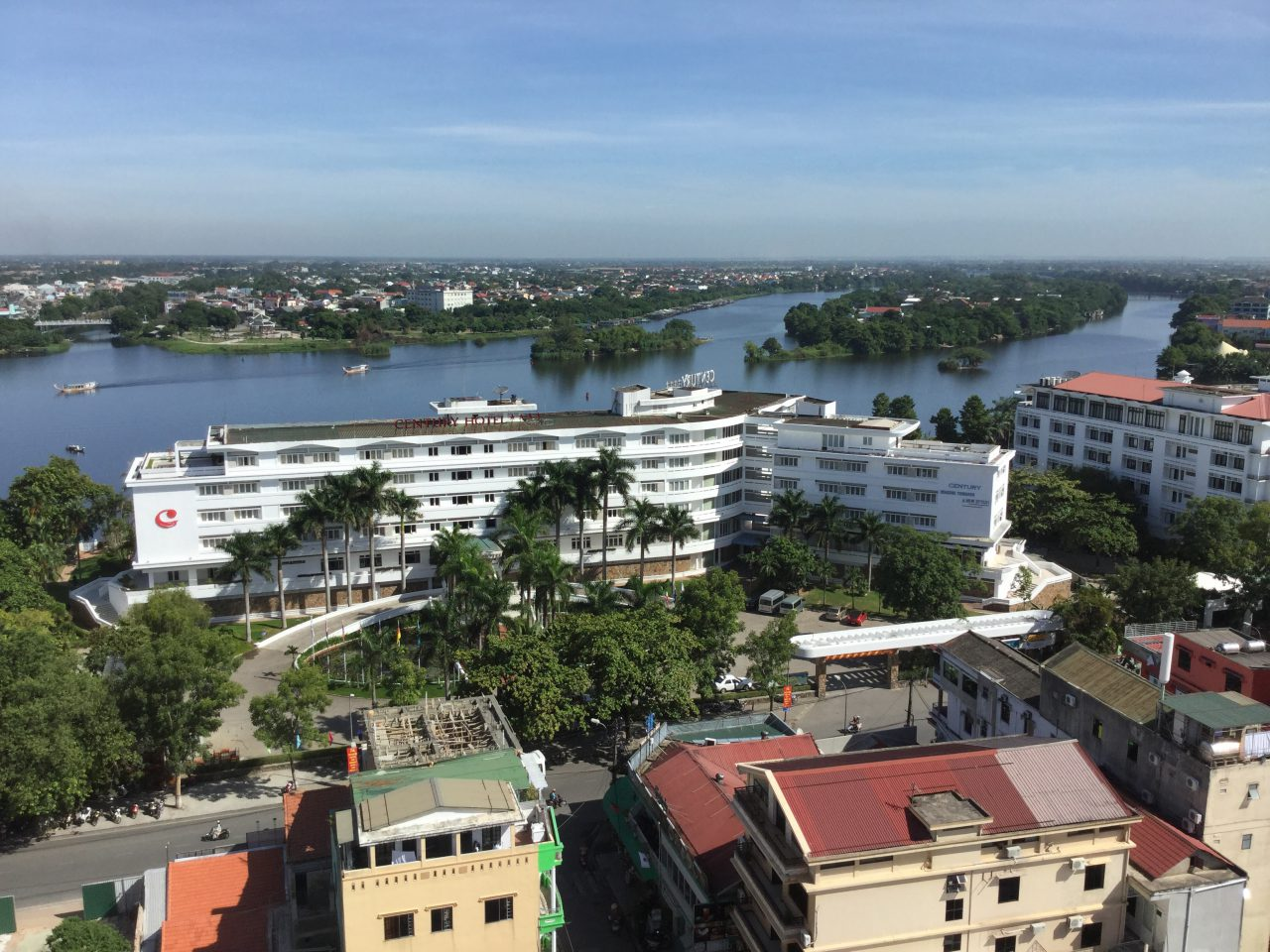 フエのムーンライトホテルからの眺望
