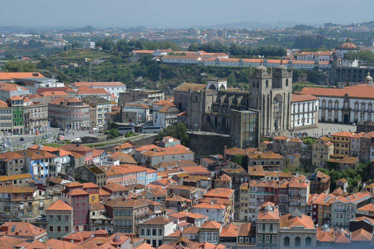 クレリゴス教会鐘塔から眺めたOld City Design Apartment