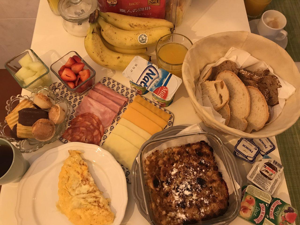 シントラ1日目の朝食