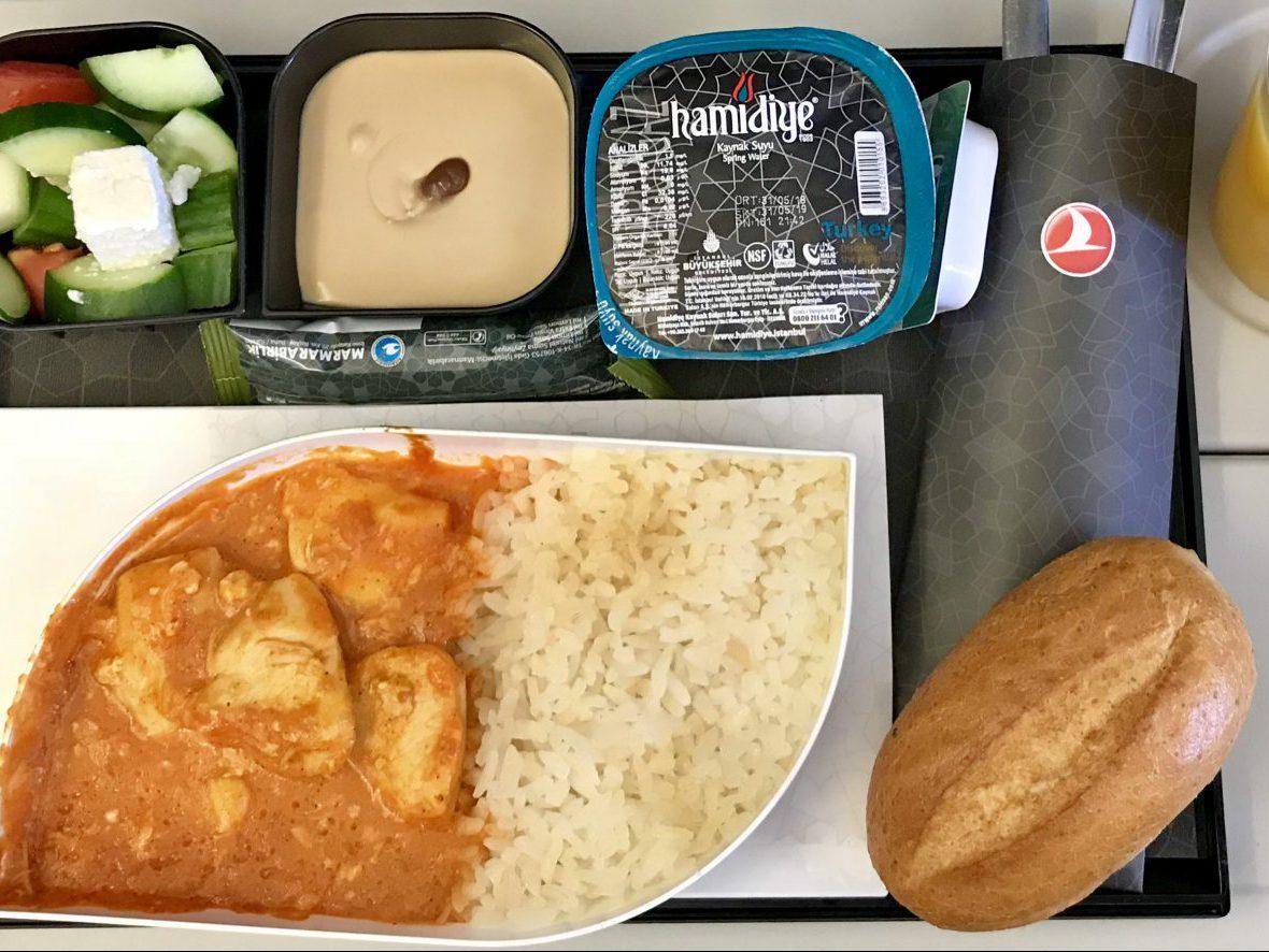トルコ航空リスボン〜イスタンブールの機内食